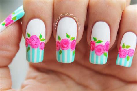 imagenes de uñas rojas con blanco decoraci 243 n de u 241 as rosas vintage deko u 209 as moda en tus