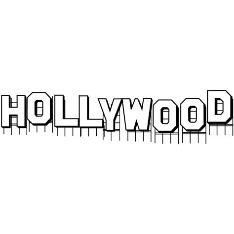 printable hollywood letters hollywood sign art sketch template jamila gras 2016