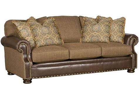 King Hickory Living Room Easton Leather Fabric Sofa 1600