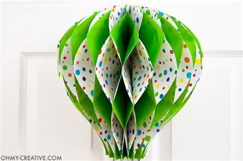 How To Make An Air Balloon Out Of Paper - diy air balloon decor oh my creative