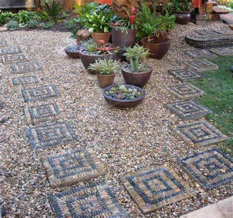 Small Pebble Garden Ideas 25 Unique Backyard Landscaping Ideas And Garden Path Designs With Pebbles