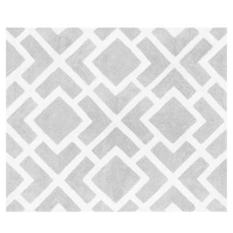gray and white bathroom rugs buy grey white rug from bed bath beyond
