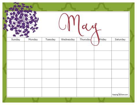 printable blank calendar   keeping life sane