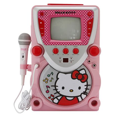 Hello Cd Karaoke System by Hello Cd Karaoke System With Screen Pink White