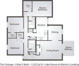 3 Br 2 Bath Floor Plans apartment floor plans amp pricing the lake house at martin