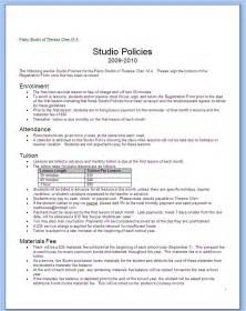 it policies templates memos my thoughts on piano teaching business for
