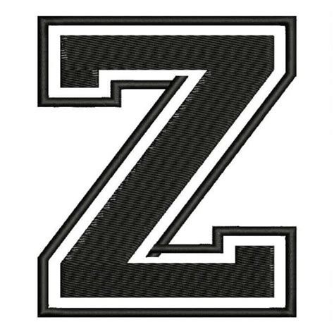College With Letter Z embroidered patch quot z quot letter z font quot college quot