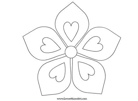 disegni da colorare dei fiori fiori da colorare flowers sagome fiori e