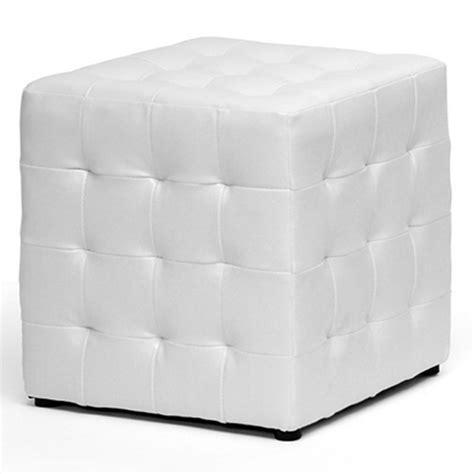 White Cube Ottoman siskal tufted cube ottoman white upholstery set of 2