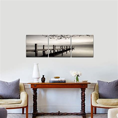 black and white paintings for bedroom pyradecor peace 3 panels black and white landscape giclee