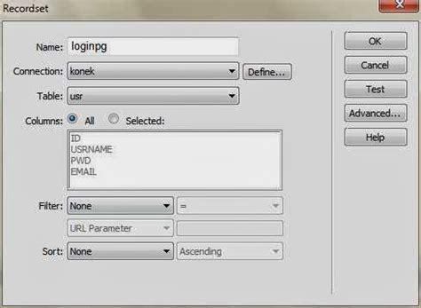 cara membuat login dengan php dreamweaver dreamweaver tutorial cara membuat login page berbasis