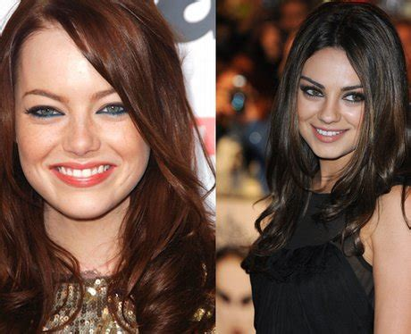emma stone and mila kunis emma stone and mila kunis lookalike celebrities heart
