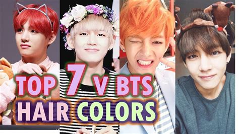kim taehyung new hairstyle 2018 top 7 kim taehyung hair colors new 2017 직캠 korea youtube
