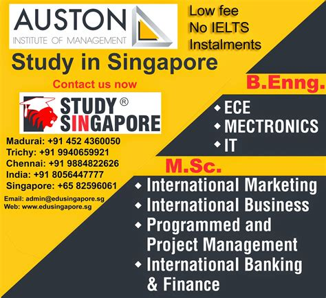 Singapore Mba Colleges Fees by Study In Singapore Msc In Project Management In Singapore