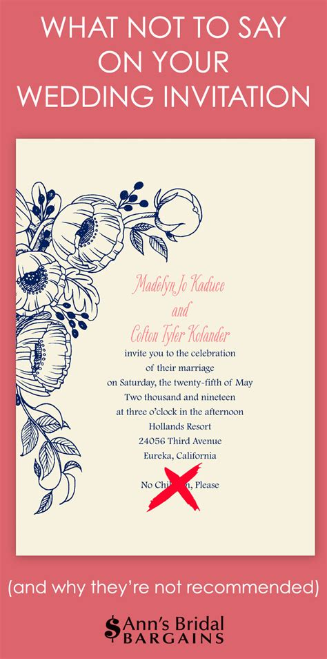 wedding invitation doesn t say and guest what not to say on your wedding invitation s bridal bargains