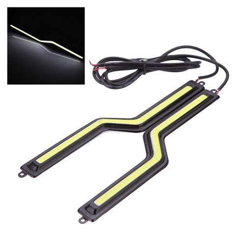 Led Drl 6ttk Water Proof 2pcs 12v bright car cob led lights drl fog driving