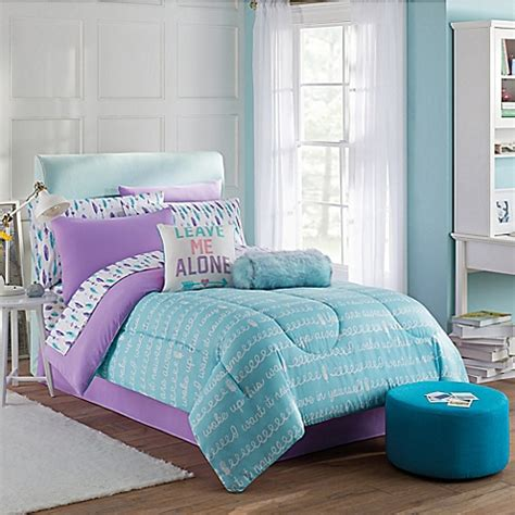 purple twin bed set buy claudette 6 piece twin comforter set in purple blue