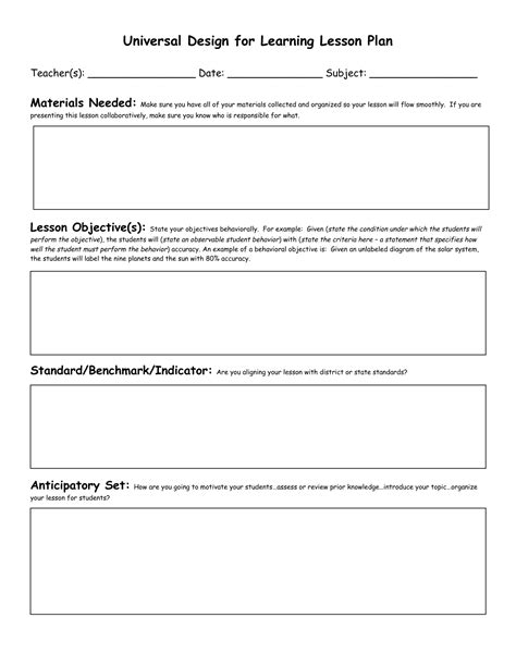 spanish lesson plan template invitation template
