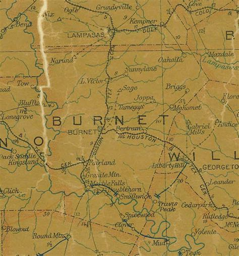map of burnet texas burnet county texas