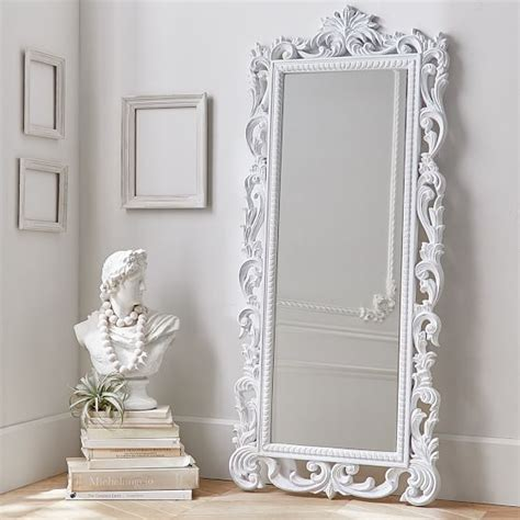 lennon maisy ornate wood carved floor mirror pbteen