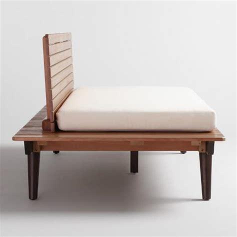 deep bench wood slat trapani deep bench with cushion world market