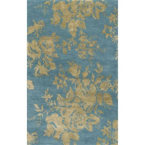indie pattern blue green rug jaipur contemporary floral leaves pattern blue green