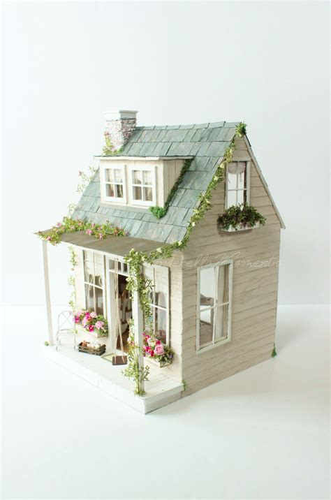 Handcrafted Dollhouse - the country house custom dollhouse