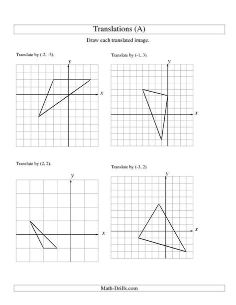 maths transformations enlargement worksheet ks4 maths