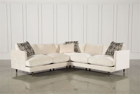 living spaces sectionals adeline 3 piece sectional living spaces