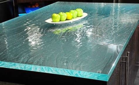recycled glass countertop different i d the edges