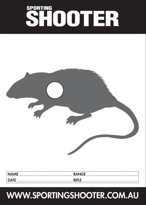 printable rat targets free printable targets sporting shooter