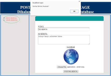 tutorial membuat website berita cara membuat form upload dan posting berita di halaman