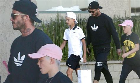 New Arrived Beckham Stella 2389 david beckham and sons romeo and sport brand new buzz cuts in west daily mail