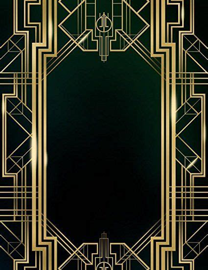 Wallmonkeys Wm368168 Great Gatsby Art Deco Background Peel And Stick Wall Decals 18 In H X 14 Great Gatsby Powerpoint Template
