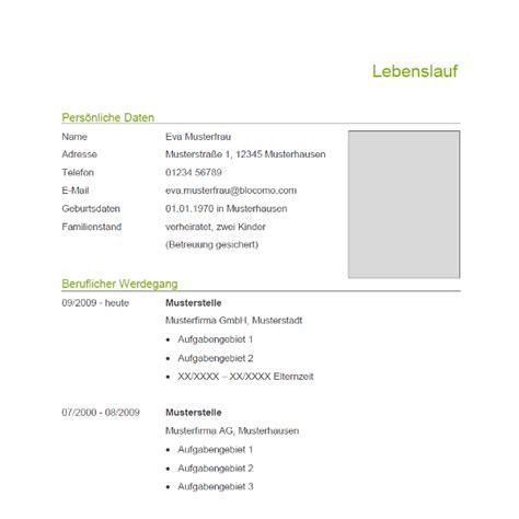 Muster Und Vorlagen Für Bewerbungen Vorlage 69 Tabellarischer Lebenslauf
