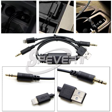 audio stereo usb aux adapter interface y cable f bmw idrive in car iphone 5 6 6 ebay