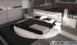 complete bedroom set with mattress amore round led leather bed aura modern perth wa