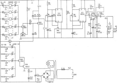Ic Ba532 ne555构成的断路 短路多路音响报警器 报警控制