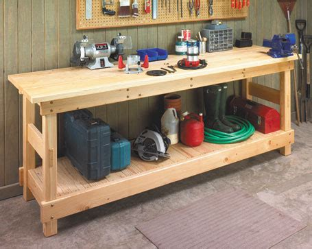 plank top bench woodsmith plans