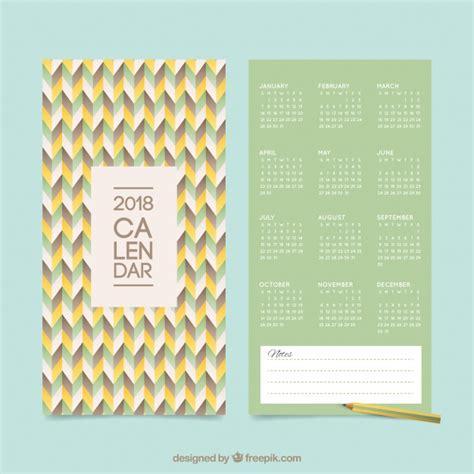 Calendar 2018 Vintage 2018 Calendar In Vintage Style Vector Free