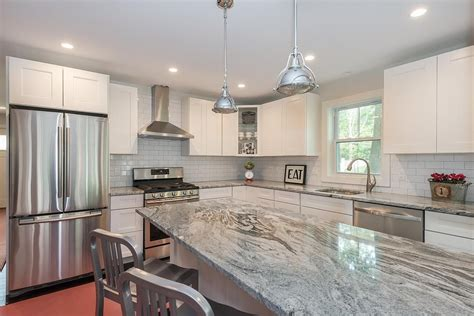 White Kitchen Cabinets With Granite by Granite Marble Countertop New Arrival