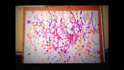 how to splatter acrylic paint on a canvas beautiful paint splatter tutorial jackson pollock