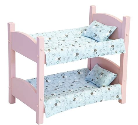 Baby Doll Bunk Bed Doll Bunk Bed Heirloom Baby Beds Amish Handmade 18 Quot Dolls In Pink Finish Ebay