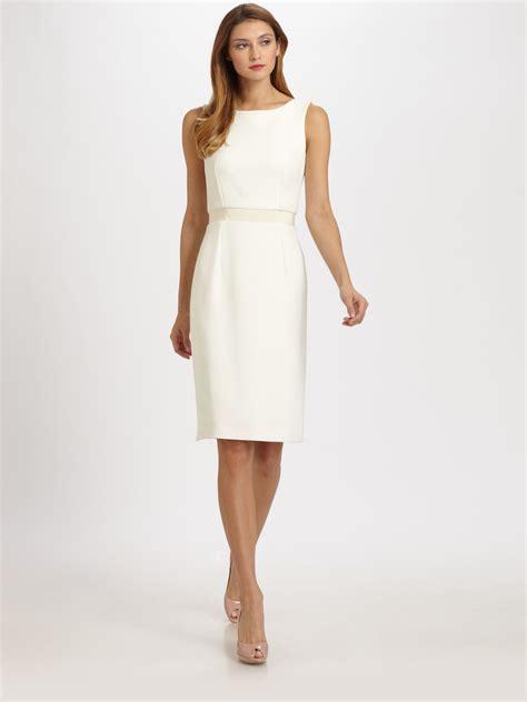White Dress shantung dress in white lyst
