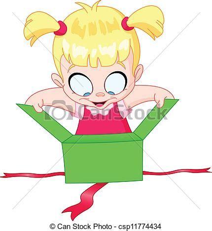 abrir imagenes jpg large vecteurs de girl ouvert cadeau peu girl ouvert a
