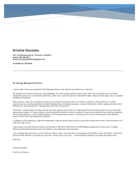 Tooling Manager Cover Letter by Storage Manager Resume Cover Letter
