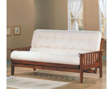 coaster furniture futon coaster furniture futon frame with slat side detail in oak