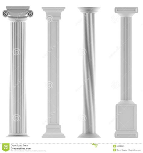 modern style architectural classic columns stock photography image 36330662