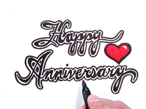 Wedding Wishes Drawing by How To Draw Happy Anniversary