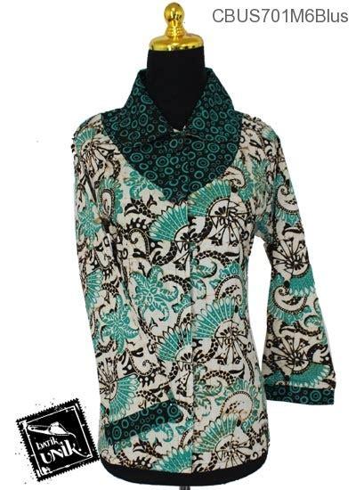 Blus Sifon Motif Bunga baju batik sarimbit blus motif bunga truntum blus lengan panjang murah batikunik